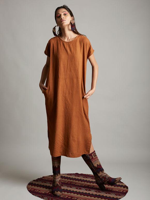 Brown Organic Cotton Dress