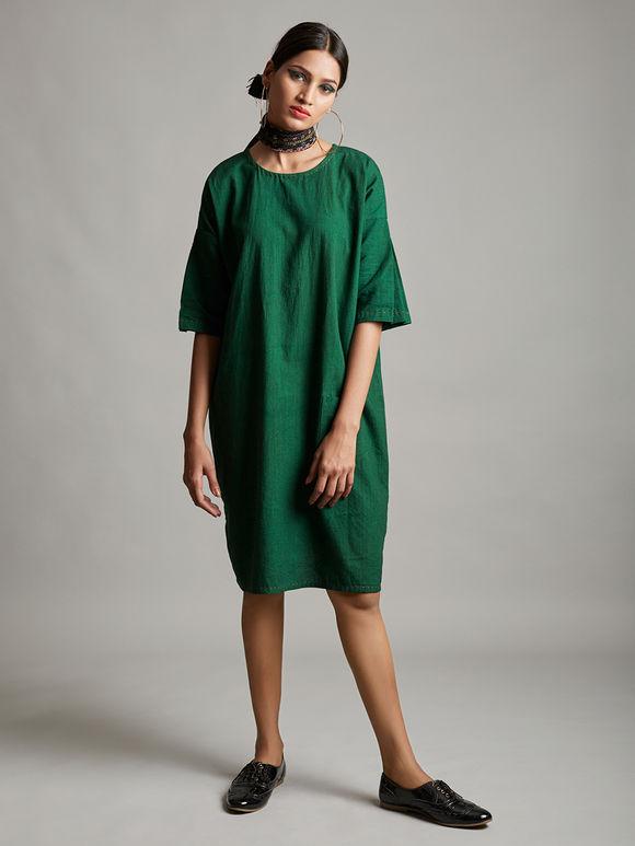 Emerald Green Organic Cotton Dress
