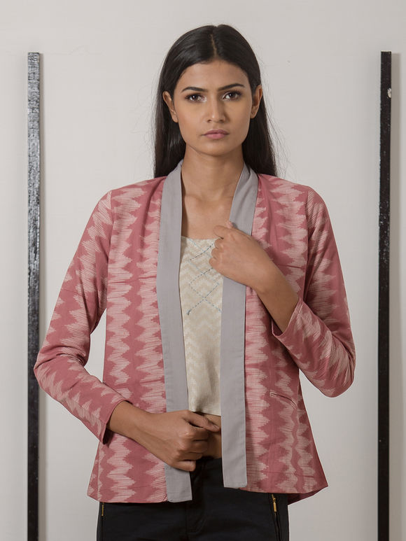 Pink Printed Cotton Jacket