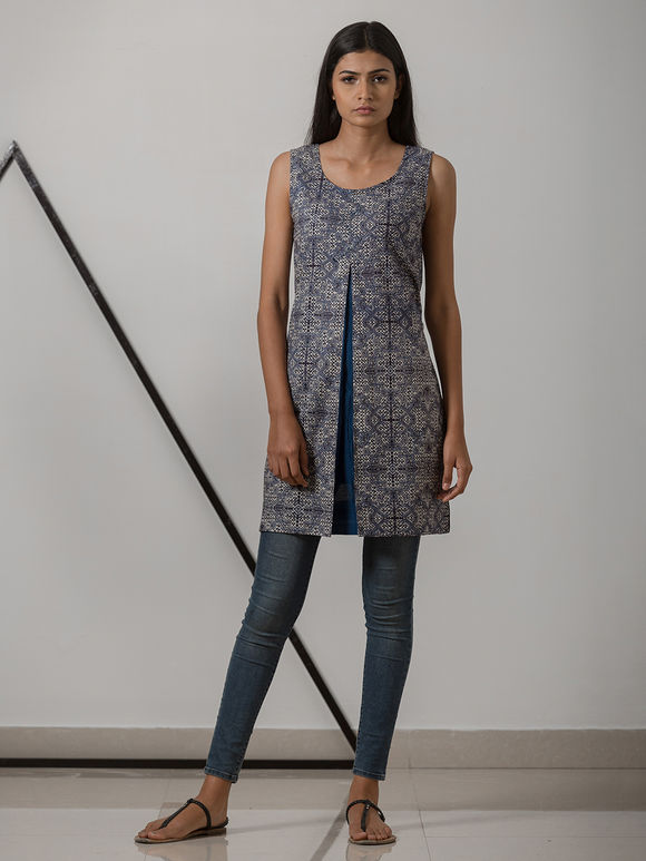 Indigo Printed Cotton Tunic