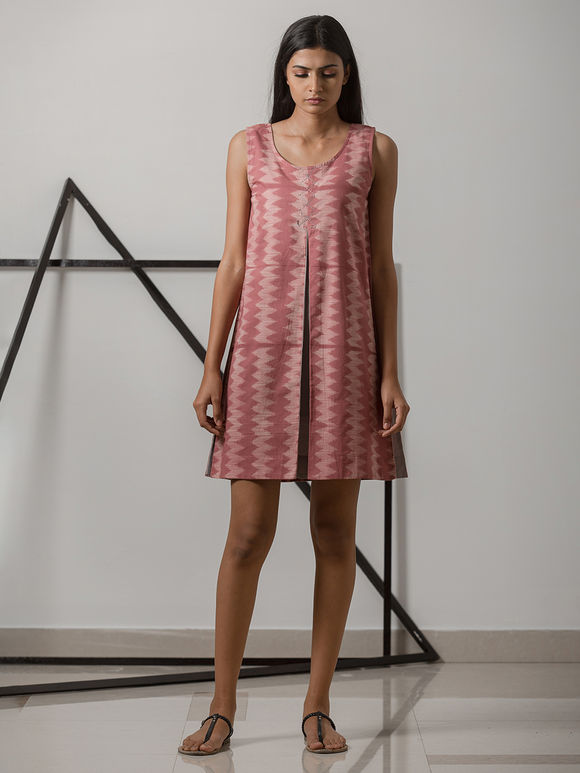 Pink Printed Cotton Dress