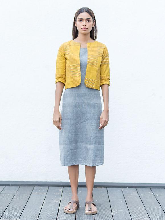 Grey Handwoven Cotton Dress