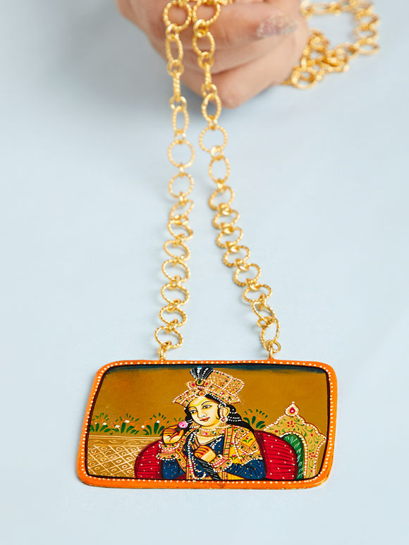 Multicolor Princess Metal Pendant Necklace