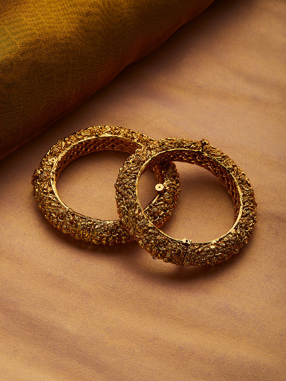 Gold Plated Handcrafted Copper Bangles