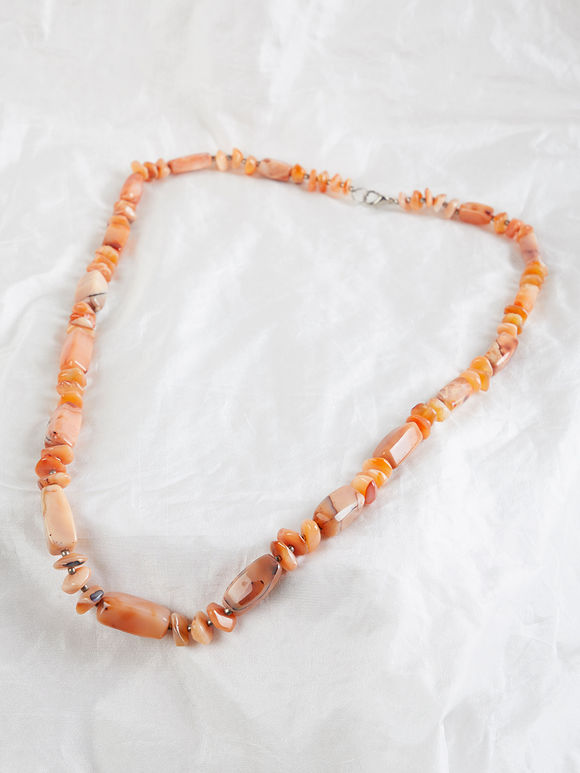 Orange Semi Precious Stone Necklace