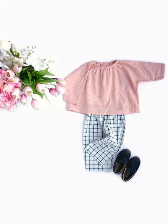 Pink Khadi Cotton Top