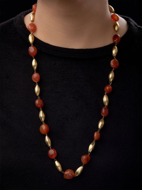 Orange Beads Dholki Necklace