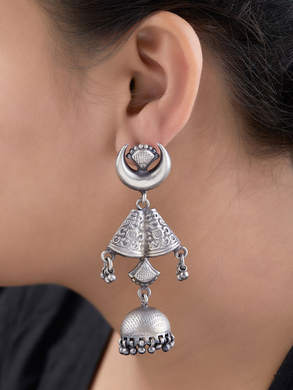 Silver Handcrafted Tribal Jhumkies