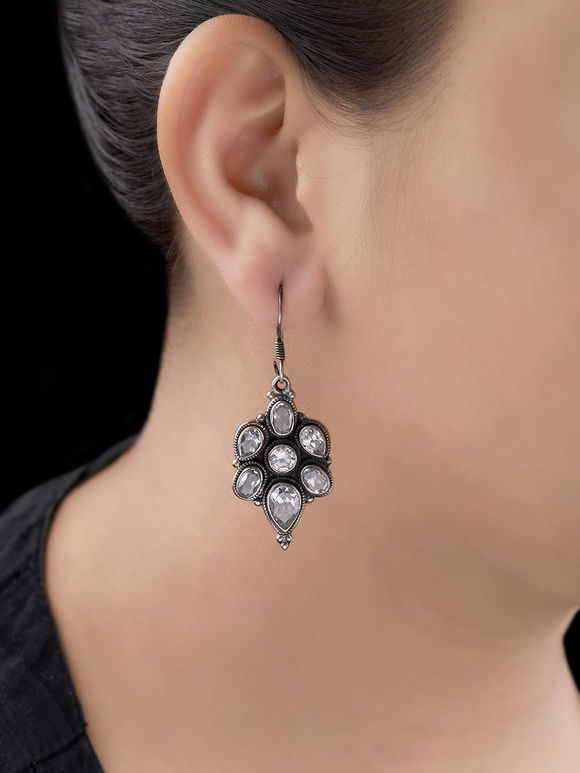 Silver Handcrafted Tribal Earrings