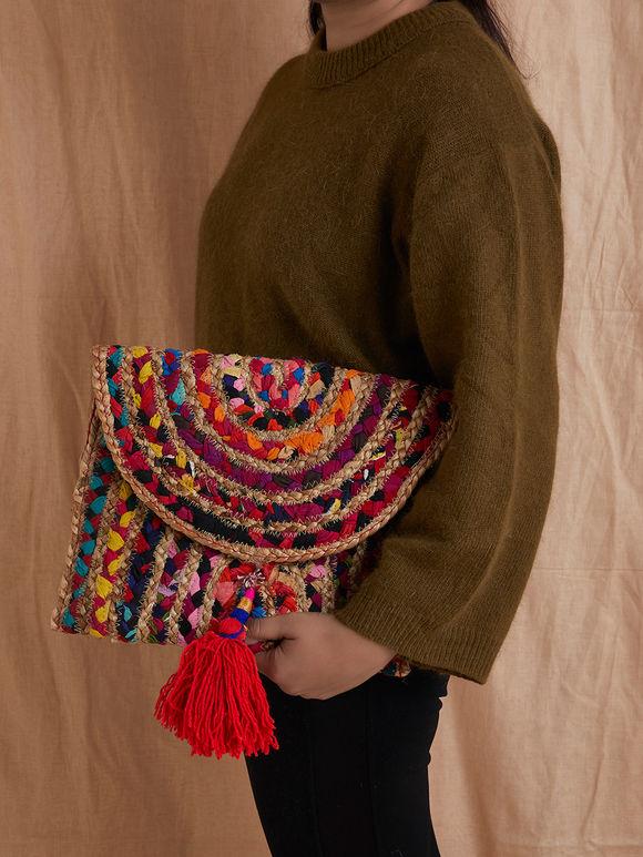 Multicloor Handmade Cotton Clutch