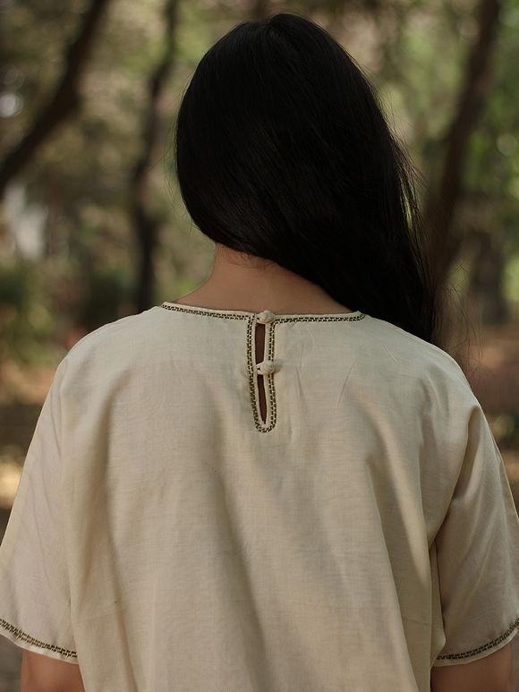Ivory Cotton Silk Dress