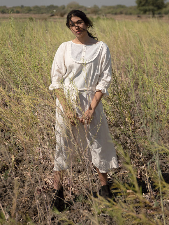 Off White Cotton Dress