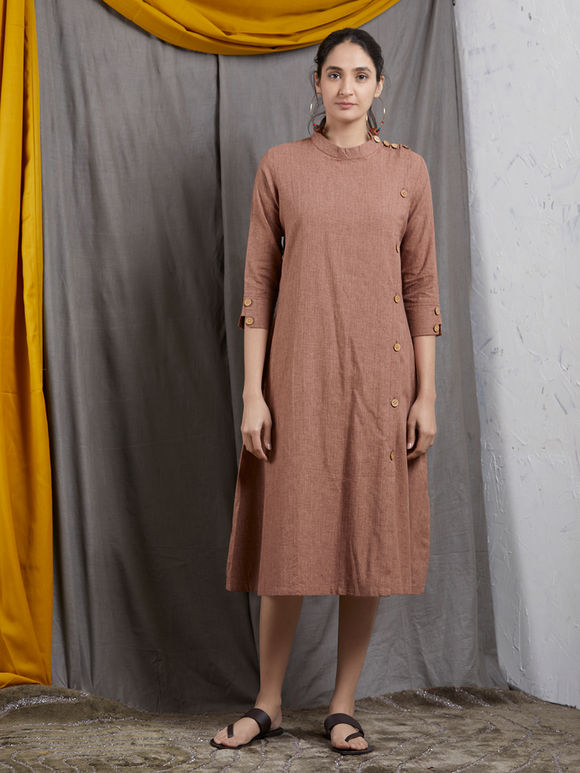 Brown Khadi Dress