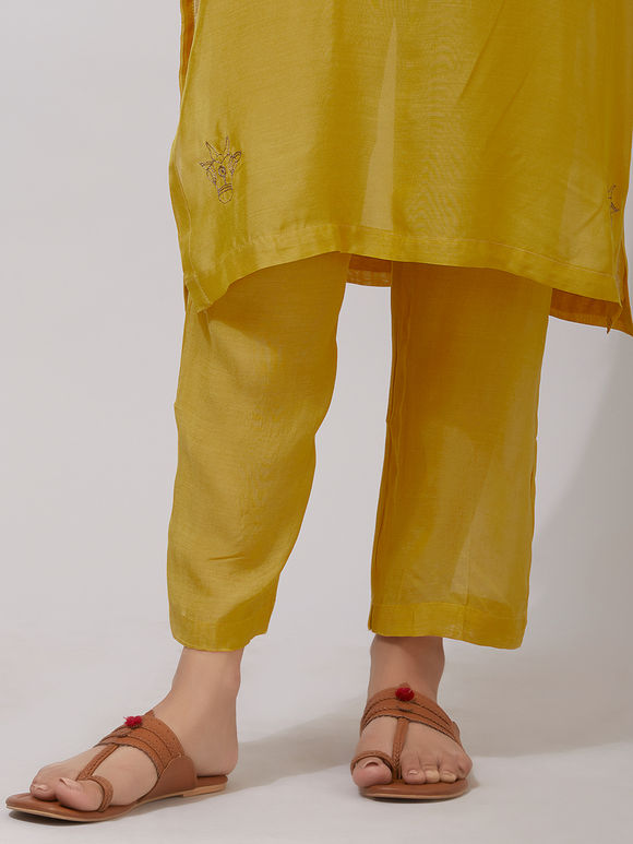 Yellow Muslin Pants