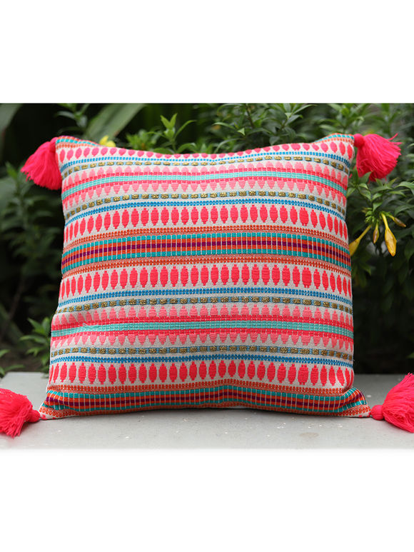 Coral Cotton Cushion Cover