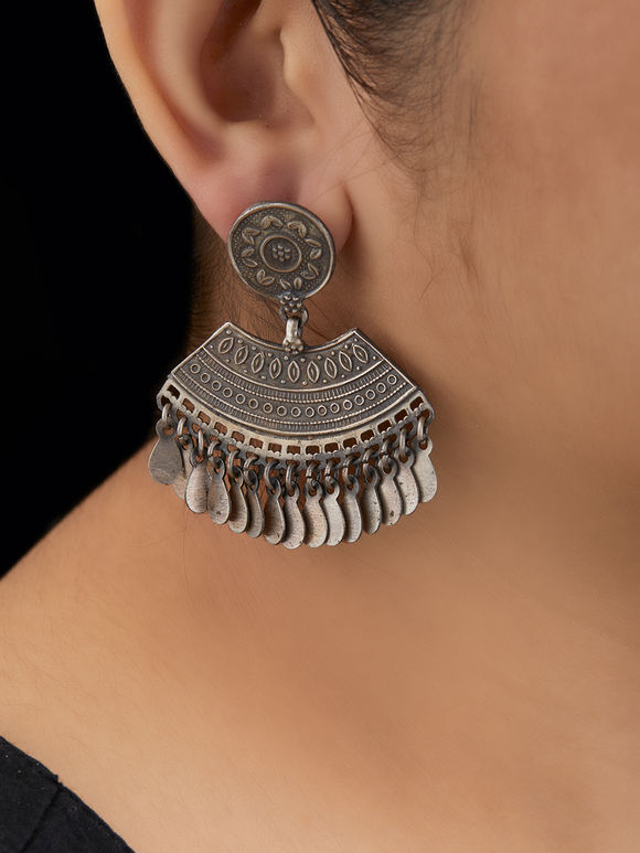 Tribal Handcrafted Silver Earrings