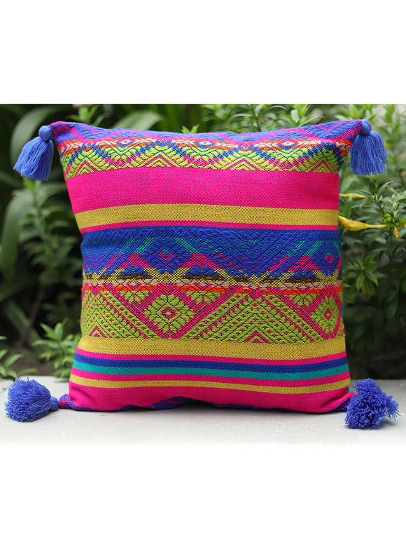 Multicolor Cotton Cushion Cover