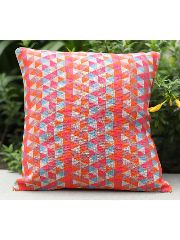Orange Cotton Cushion Cover