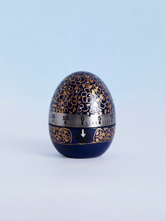 Blue Hand Painted Steel Egg Timer
