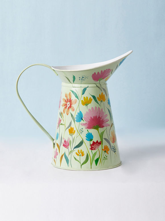 Mint Green Hand Painted Aluminium Watering Can
