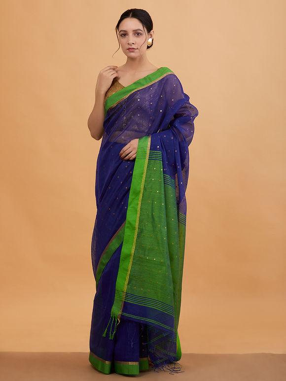 25288640ef Woven Sarees : Buy Handwoven Cotton Silk & Linen Sarees Online - The ...