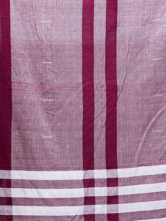 Purple White Cotton Dupatta