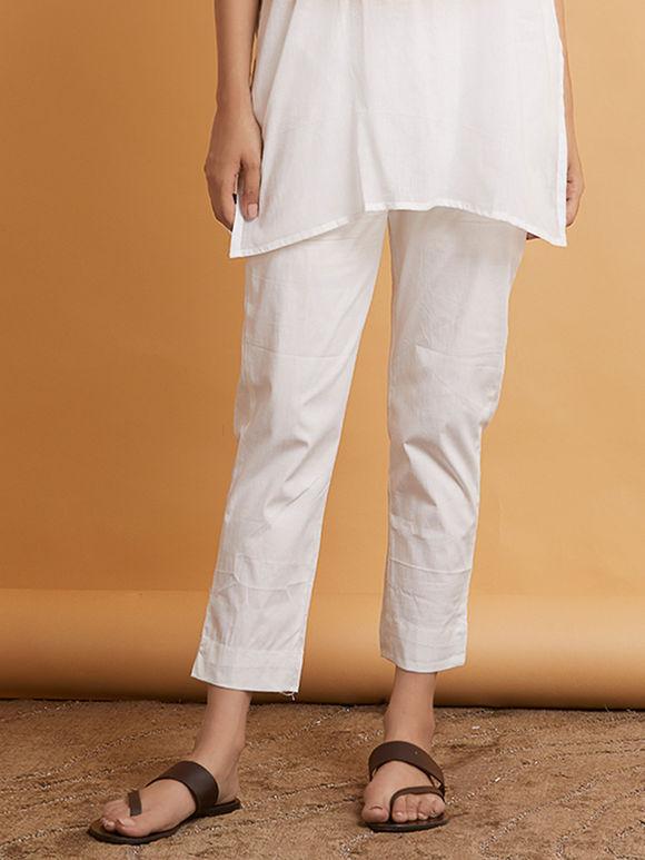 White Cotton Pants