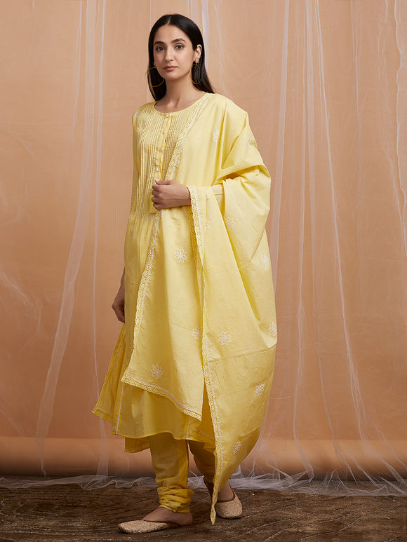 Yellow Cotton Suit - Set of 3