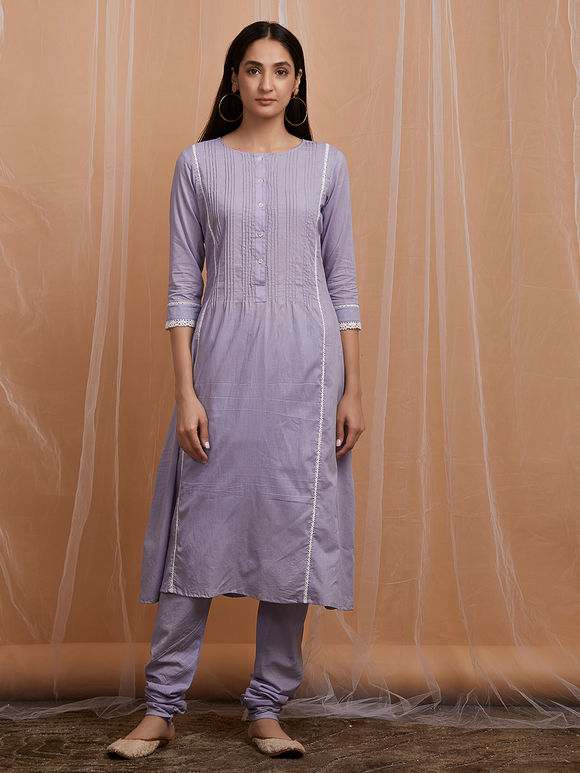 Lavender Cotton Kurta